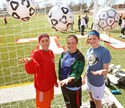 24March2011  Forward Jenna Ruimveld, a senior; goalkeeper Kourtney Moore,  a senior and defender Liz Barrett,  a junior are back to lead a Vicksburg girls soccer team that figures to be one of the teams to beat in the Wolverine Conference this season ( Special to the Gazette / John A. Lacko)