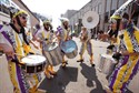 04June2011  The Trybal Revival Samba Band plays during the Do-Dah Parade along Lovell Street Saturday in downtown Kalamazoo.   (Special to the Gazette / John A. Lacko)
