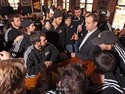 20March2011  Western Michigan University hockey coach Jeff Blashill talks to the team at University Roadhouse Sunday morning after they learned they were to play Denver next Saturday in Green Bay. ( Special to the Gazette / John A. Lacko)