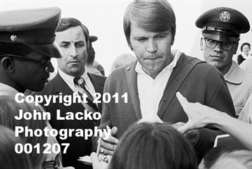25March1970  Glen Campbell visits Vandenberg Air Force Base hospital.