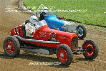 The Antique Auto Racing Association last made a visit to Michigan in 2003 at the Eaton County Fairgrounds.  The group preferred to run on 1/2 mile flat dirt horse racing tracks like the cars ran on originally.