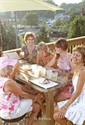 21July2011 Friends Linda Goldner of South Haven, Peggy McClendon of South Haven, Eileen Armstrong of Kalamazoo, Wendy Meyer of South Haven and Donna Hartman of South Haven share a laugh at Joe's Bar and Grill in South Haven has just opened a roof deck. (Special to the Gazette / John A. Lacko)